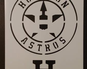 Houston Astros Baseball Custom Stencil FAST FREE SHIPPING