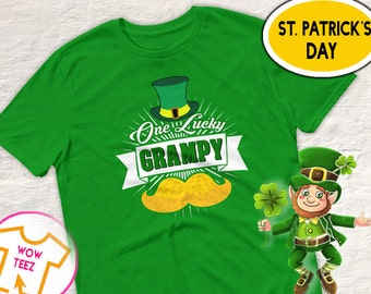 St Patricks Day, Grampy Shirt, One Lucky Grampy, Shamrock Shirt, St Paddy's Day, Irish T-Shirt, Grampy Irish Shirt,  Irish Grampy, Grampy