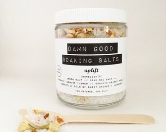 Damn Good Soaking Salts // Uplift -- 100% natural • detoxification • mineral-rich • bath salts