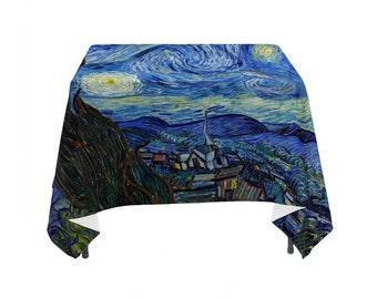 "Vincent Van Gogh's ""Starry Night"", Linen Table Cloth"