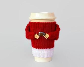 Coffee cozy. Alabama college football. Tumbler sleeve. Red white football.Travel mug sleeve. Mug sweater. Funny mug. Football gift.