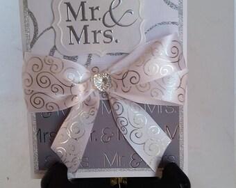 Handmade, Beautiful, Unique Sparkly Wedding Card