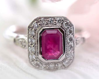 Ruby engagement ring Etsy