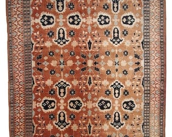 ON SALE 20% Off 4.1' x 6.1' ( 126cm x 187cm )  hand made vintage Turkish rug 1970