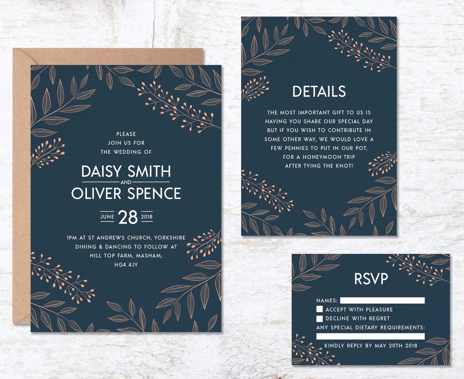 Royal Blue Wedding Invitation Cards: Royal Blue Wedding Invitation Template Navy Blue Wedding