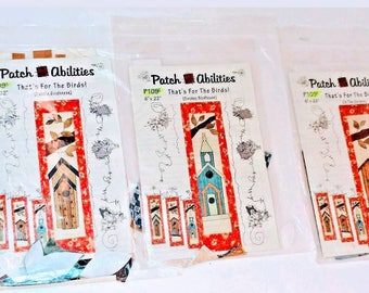 That's For The Birds Wall Hanging/Quilt Pattern Patch Abilities Lot of 3