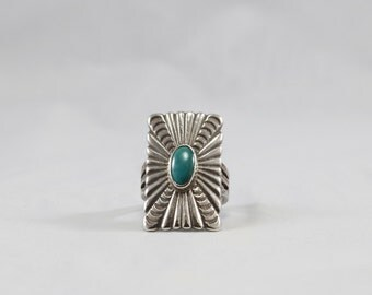 Sterling Silver and Turquoise Vintage Ring