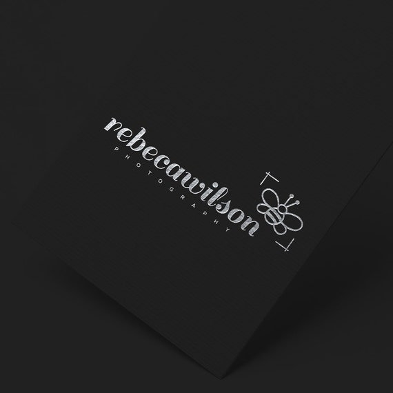 INSTANT DOWNLOAD, DIY Logo, Bee Logo, Business Blog Logo, Modern Logo, Cheap Logo, Calligraphy Logo, Affordable Logo, Calligraphy Logo, Logo