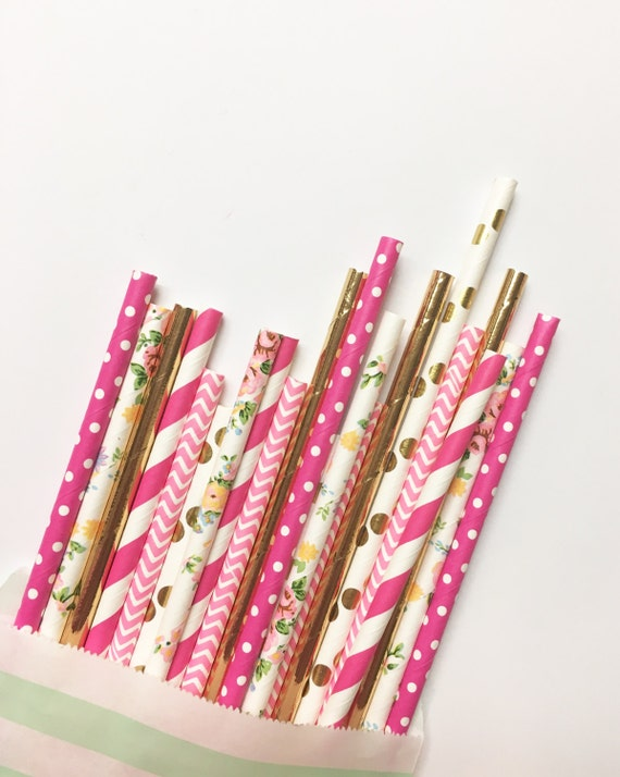 Wild Wildflowers straw mix//paper straws, straws, party decorations, party supplies, birthday party, baby shower, wedding, bachelorette