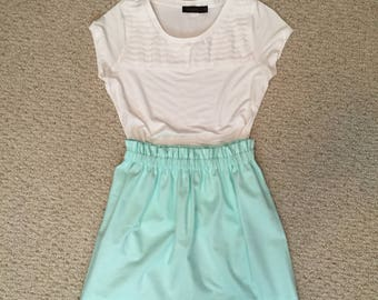 Scalloped solid colored skirt