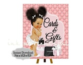 DIGITAL FILE Gift and Cards Sign, Baby Shower, Fashion Baby Shower, Baby Shower Decor