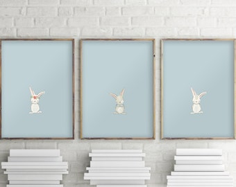 Set of 3 prints, Nursery animal print set, Woodland animals set, Forest animals, Nursery decor, Baby shower printable, Print set of 3, 1078