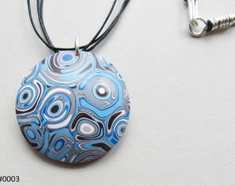 Blue Circles Pendant Necklace (#0003)