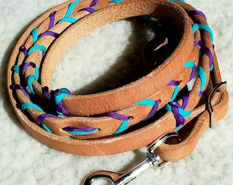 Hermann Oak Harness Leather Laced Contest Reins