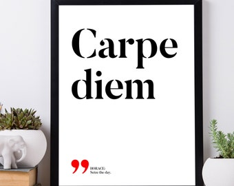 Carpe diem – Seize the day, Latin printable quotes, Latin proverbs, Latin sayings, Latin philosophy, Printable wall art, INSTANT DOWNLOAD