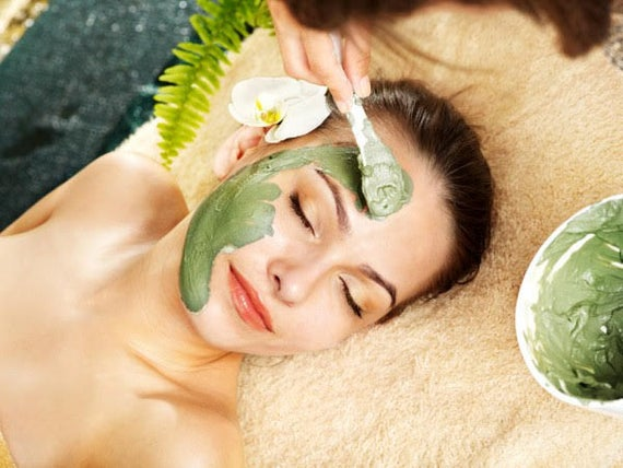 Matcha green tea mix clay mask - French green clay - Moringa -Matcha- Ginkgo biloba - antioxidant vegan face mask