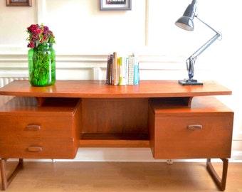 Fantastic Vintage G Plan floating top teak desk. Delivery. Modern / Mid-century / Danish style.