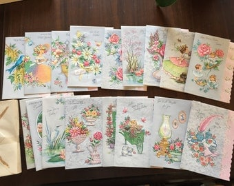 Absolutely beautiful get well soon vintage cards