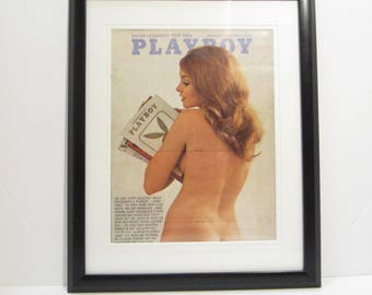 Vintage Playboy Magazine Cover Matted Framed : February 1970 - Norma Bauer