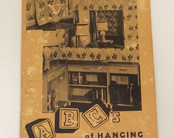 Vintage ABC's of Hanging Wallpaper Book