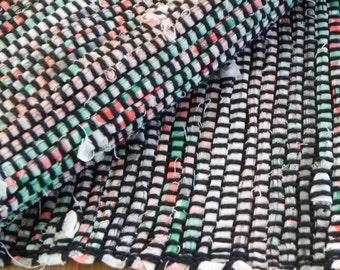 Spring time rag rug table runner