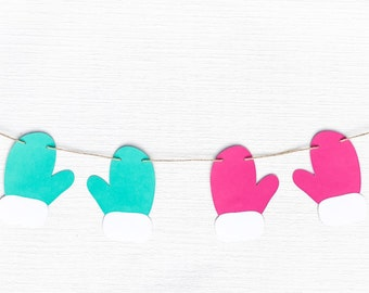 Mittens Garland | Mittens Banner | Mittens Decor | Winter Garland | Winter Banner | Winter Decor | Winter Party