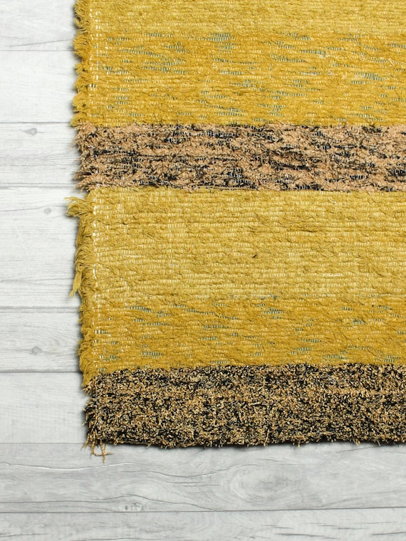 Gold yellow rug living room rug bohemian rug by - Gold rugs for living room ...