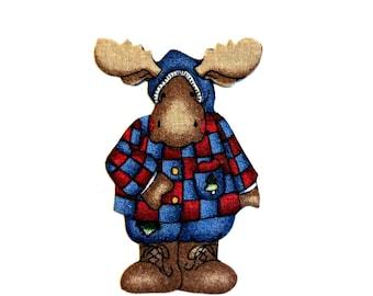 Mr. Moose, MAGNET,  Moose Decor, Cabin Decor, Lake House Decor, Woodsy Decor, Christmas, Moose Head, Seasonal Decor, Merry Christmas, Winter