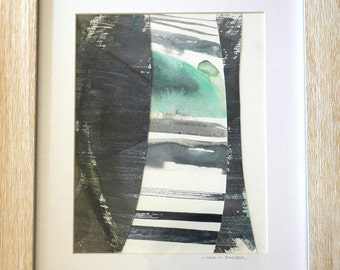 """In Between: Original 8"""" x 10"""" painting on paper matted and framed to 13.5"""" x 16.5"""""""