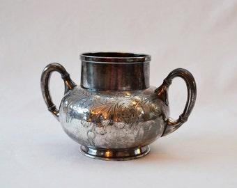 Antique Meriden Silver Decorator Jug