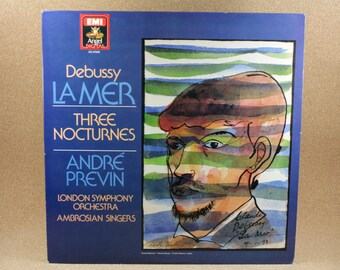 Andre Previn - The London Symphony Orchestra - The Ambrosian Singers - Debussy - La Mer/Three Nocturnes - 1984 - Near Mint Condition