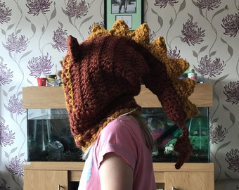 Dragon hooded cowl for toddler/ child/ adult