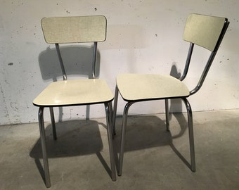 Pair of chairs 60s formica