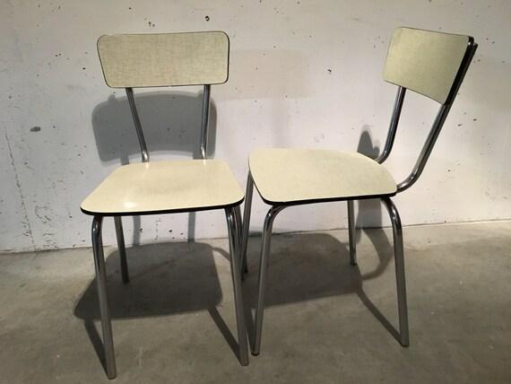 paire de chaises en formica ann es 60. Black Bedroom Furniture Sets. Home Design Ideas