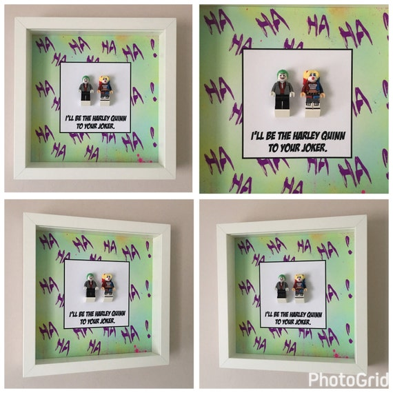 Harley Quinn And Joker Quote Frame, Mum, Gift, Geek, Box, Dad, Idea, For Her, For Him, Anniversary, Comic, Lego, Art