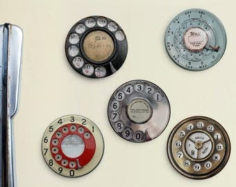 Vintage Telephone Magnets - Retro Phone Magnets, Vintage Phone, 1950's, 1960's, Rotary Phone, Father's Day, Dad Gift, Gift for Dad