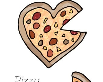 you've stolen a pizza my heart - Valentines Card