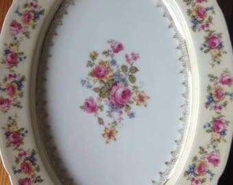 China/Bavarian China/Thomas Ivory/Thomas Ivory china/Antique china/china set/German china/rose plates/72 pieces