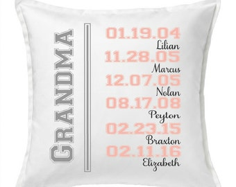 Personalized Pillow - Grandma Pillow - Grandkids Pillow - Grandma Gift - Gift for Grandma - Gift for Grandpa - Personalized Pillow - Nana