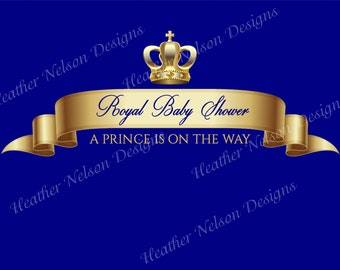 A Royal Baby Shower for a Prince Digital Backdrop