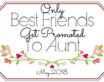 Promoted To Aunt Wine Label *Free Shipping*