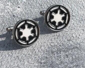 Star Wars Galactic Empire Cufflinks,Star wars cuff link, Mens gifts, Silver Cufflinks, Star wars, Galactic Empire cufflinks