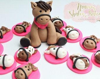 Horse Edible Cake & Cupcake Set