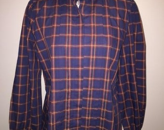 Vintage Plaid Button-up / size 18 / by Levi Strauss & Co