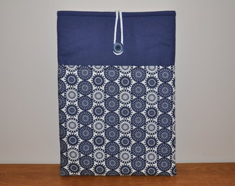 Navy and geometric laptop case - sleeve - cover - padded to keep your device safe - Macbook Air