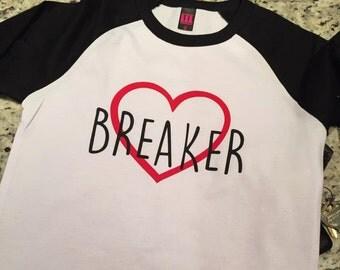 Heart Breaker Baseball Tee