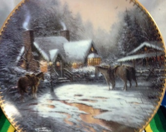 A Christmas Welcome Decorator Plate