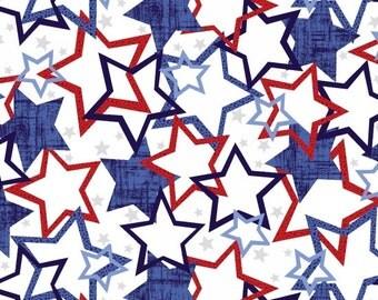 Patriotic Pride, Patriotic fabric, July 4th fabric, USA fabric, by Studio-e 3597
