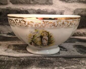 Vintage French cafe au lait bowl Limoges L'apparition - Charles