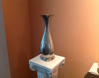 Vintage Pewter Vase KDM Royal Holland Daalderop 1960's